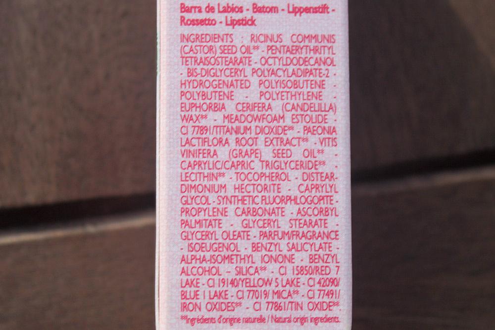 L'Occitane Lipstick INCI