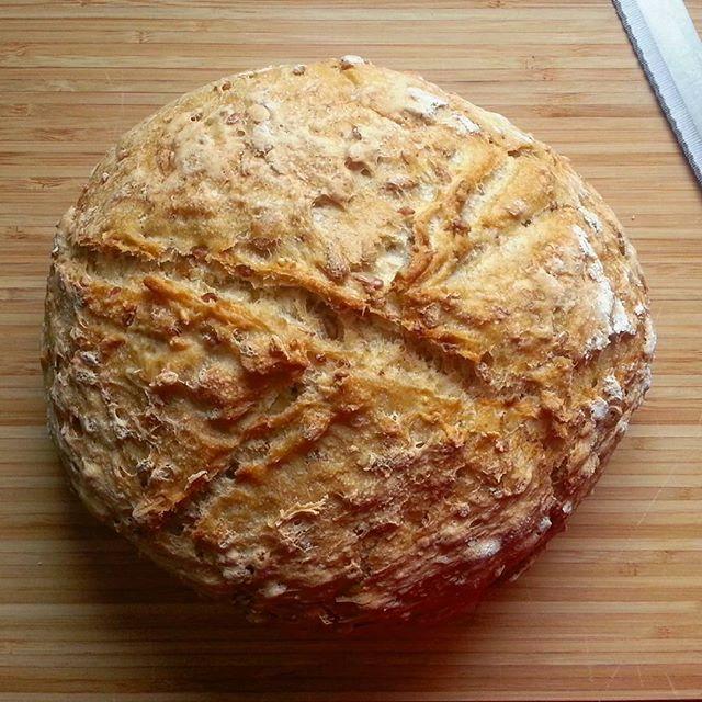 Ergebnis einer nächtlichen Brotbackaktion.