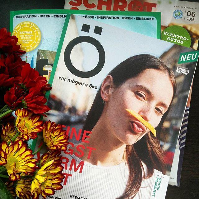 Wochenendlektüre. #ökotussi #wirmögensöko #schrotundkorn #flowmagazin #twitter @oewirmoegensoeko
